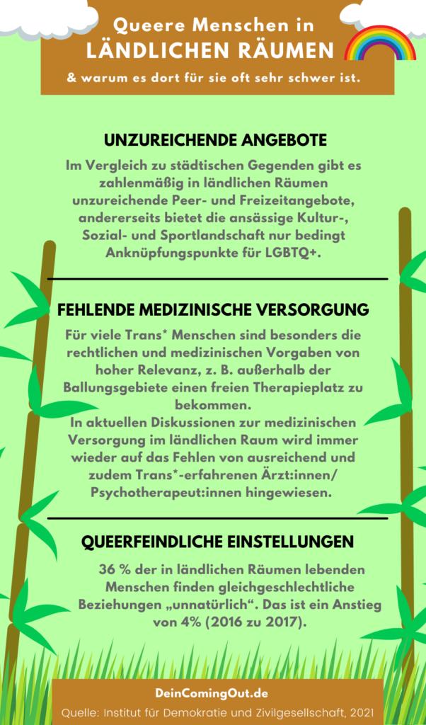 queere menschen in ländlichen räumen infografik